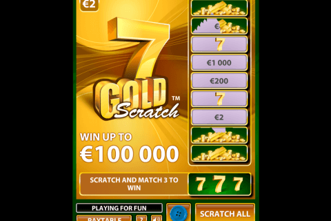 gold scratch netent zdrapka online