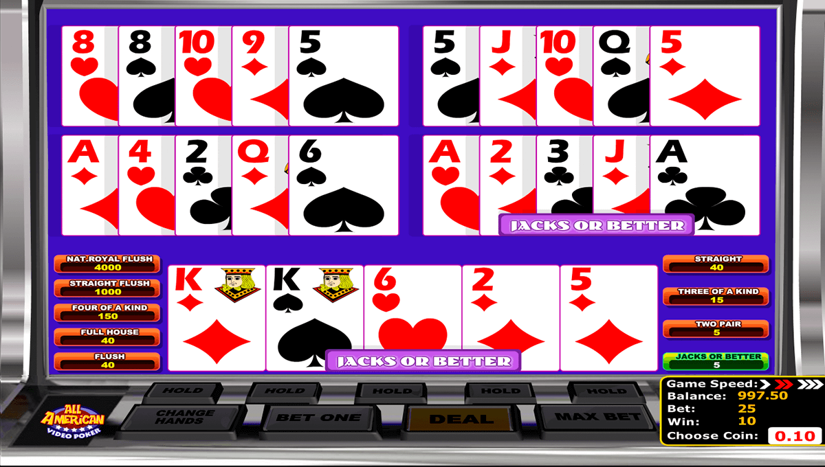 all american betsoft video poker