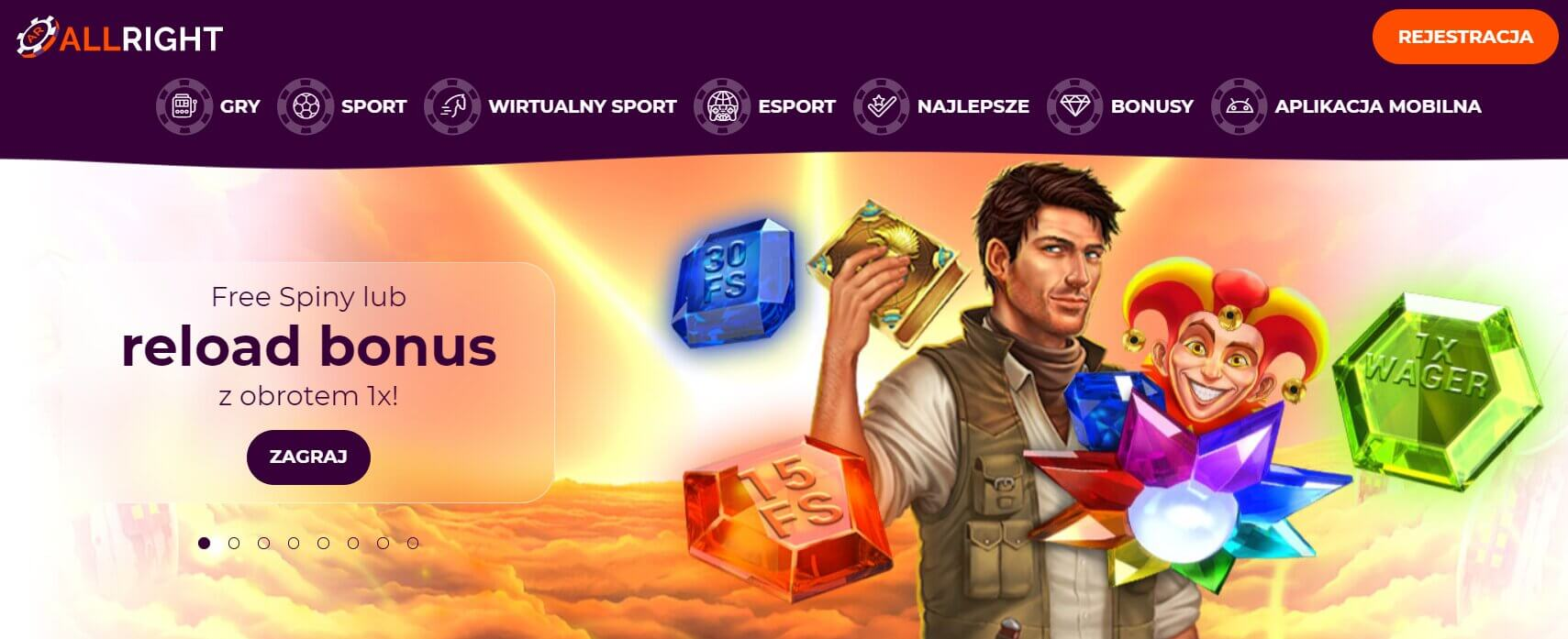 allright casino bonus screenshot