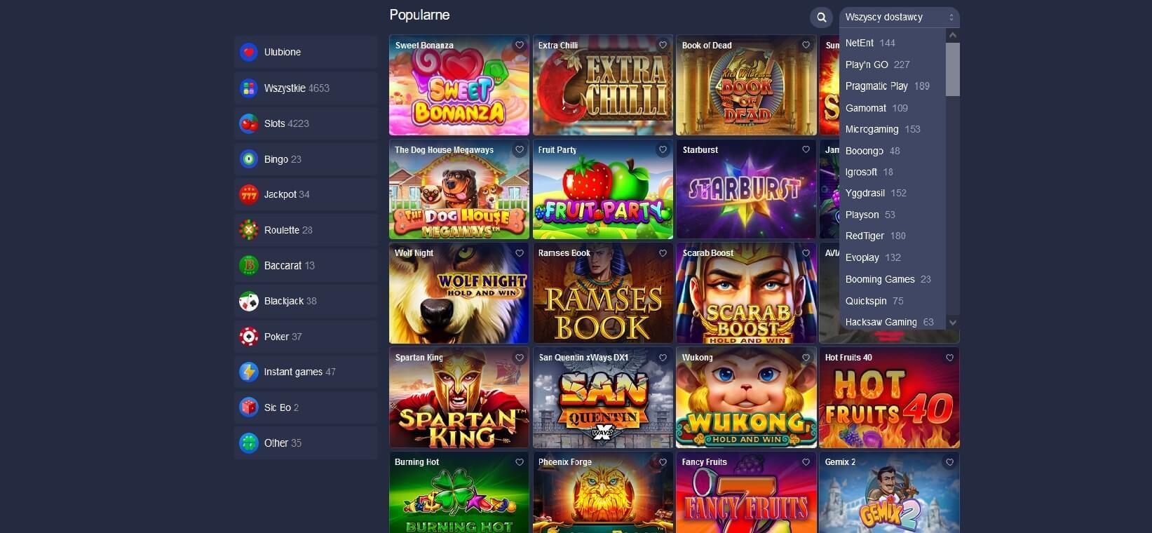 betmaster kasyno gry hazardowe screenshot