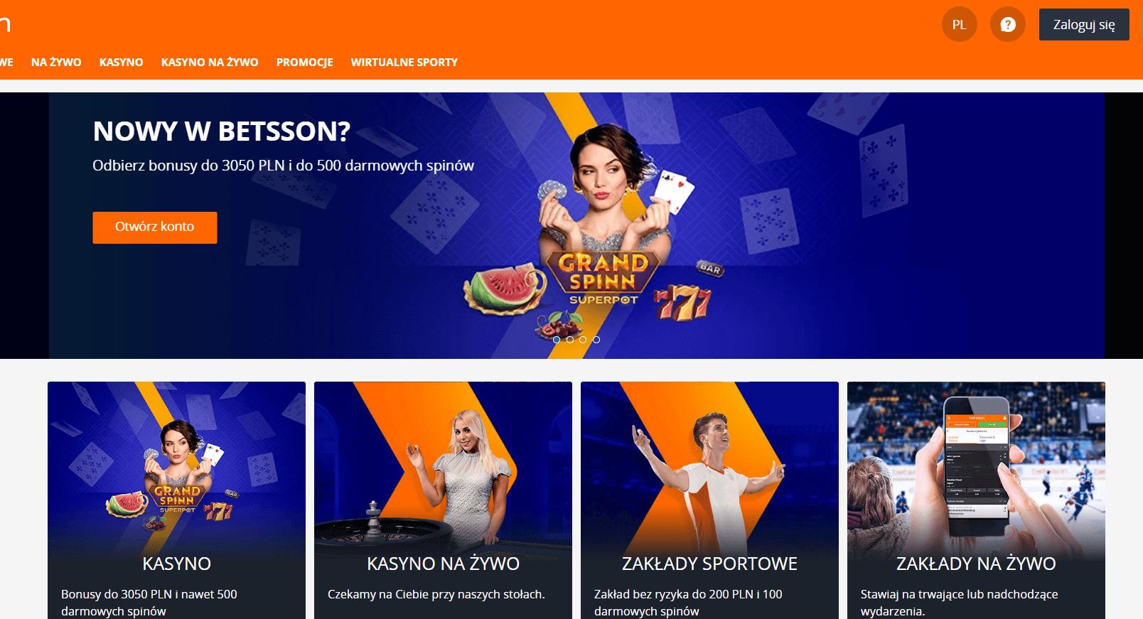 betsson casino bonusy screenshot