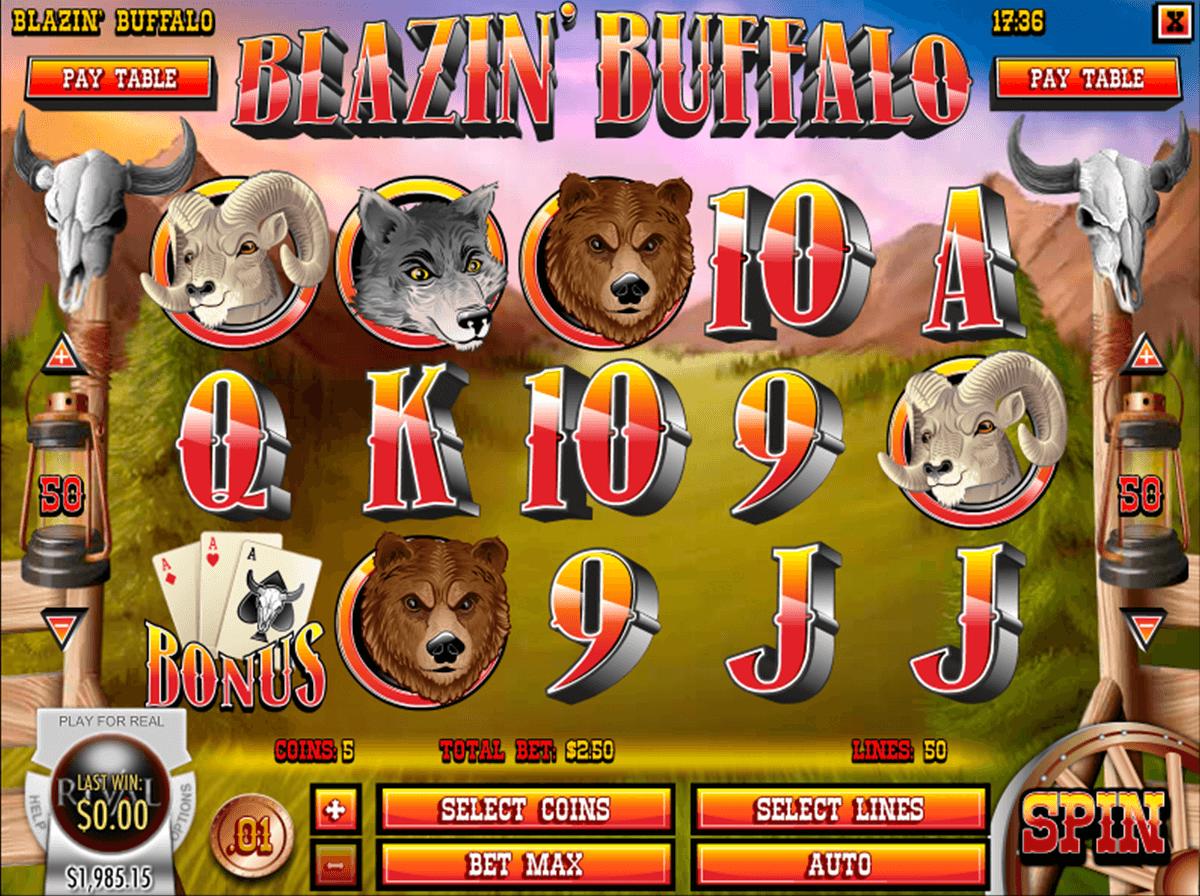 blazin buffalo rival automat online