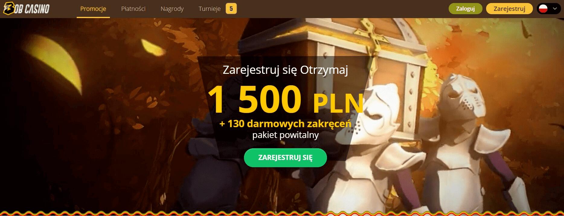 bob casino bonusy darmowe spiny screenshot