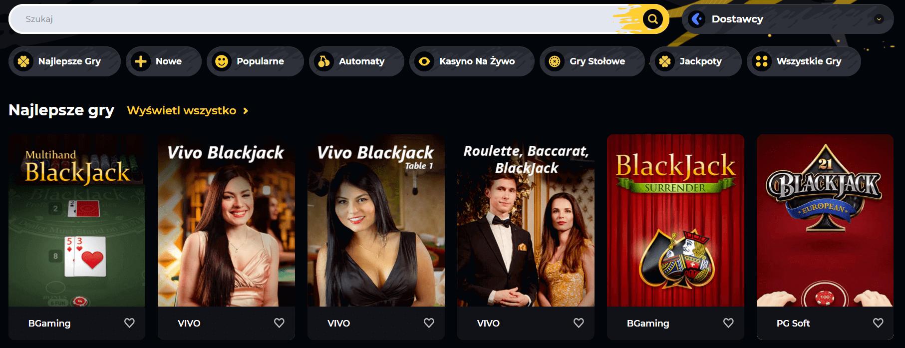 boomerang casino gry hazardowe screenshot