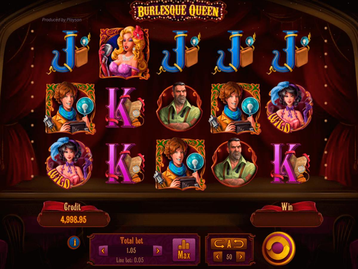 burlesque queen playson automat online