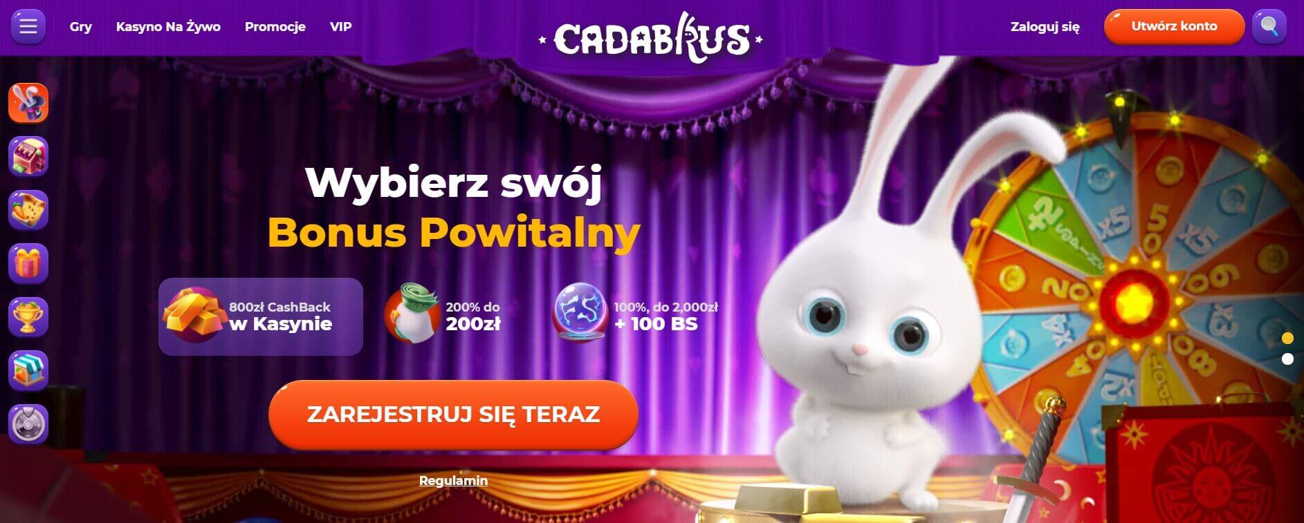 cadabrus kasyno bonusy screenshot