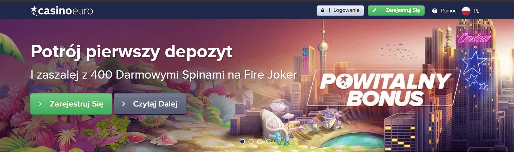 casinoeuro bonus powitalny screenshot