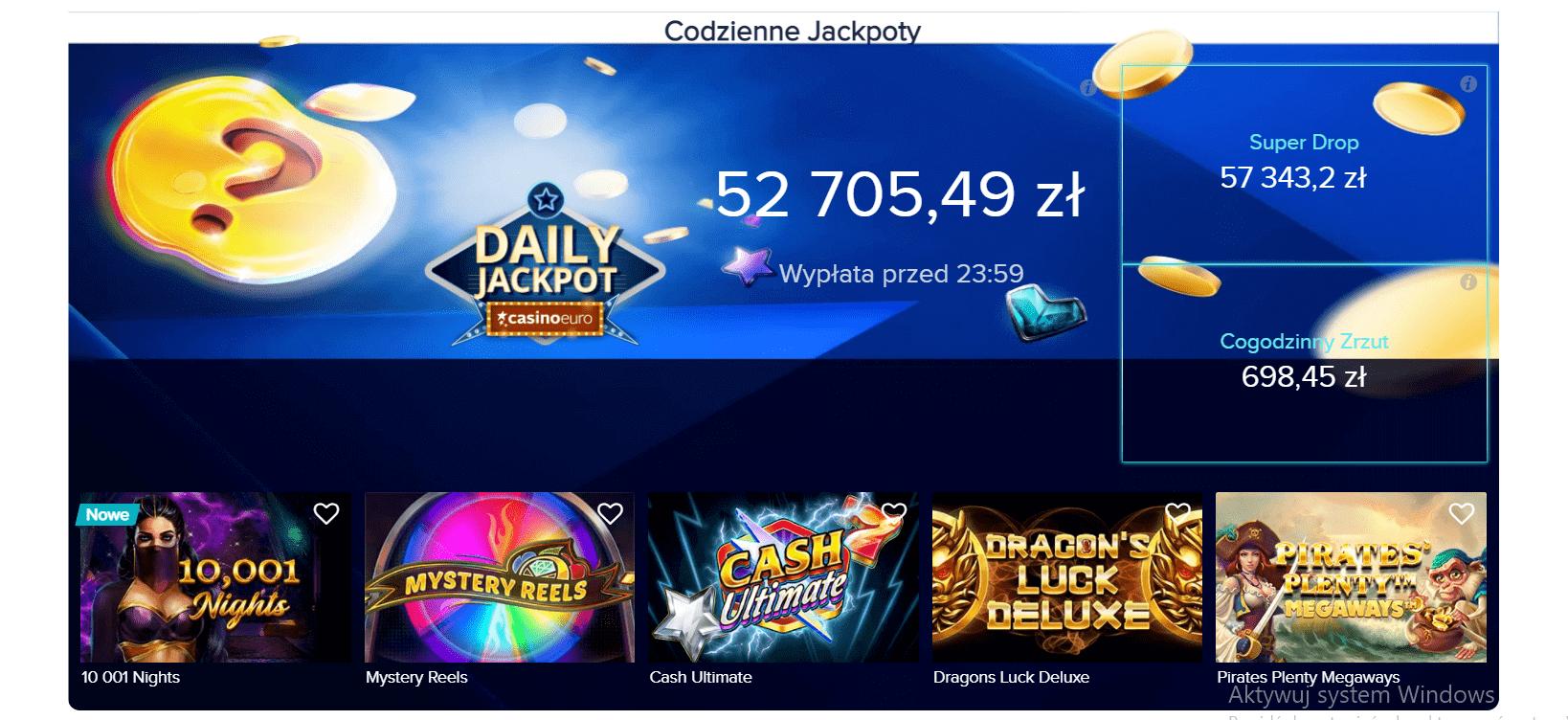 casinoeuro jackpot automaty screenshot
