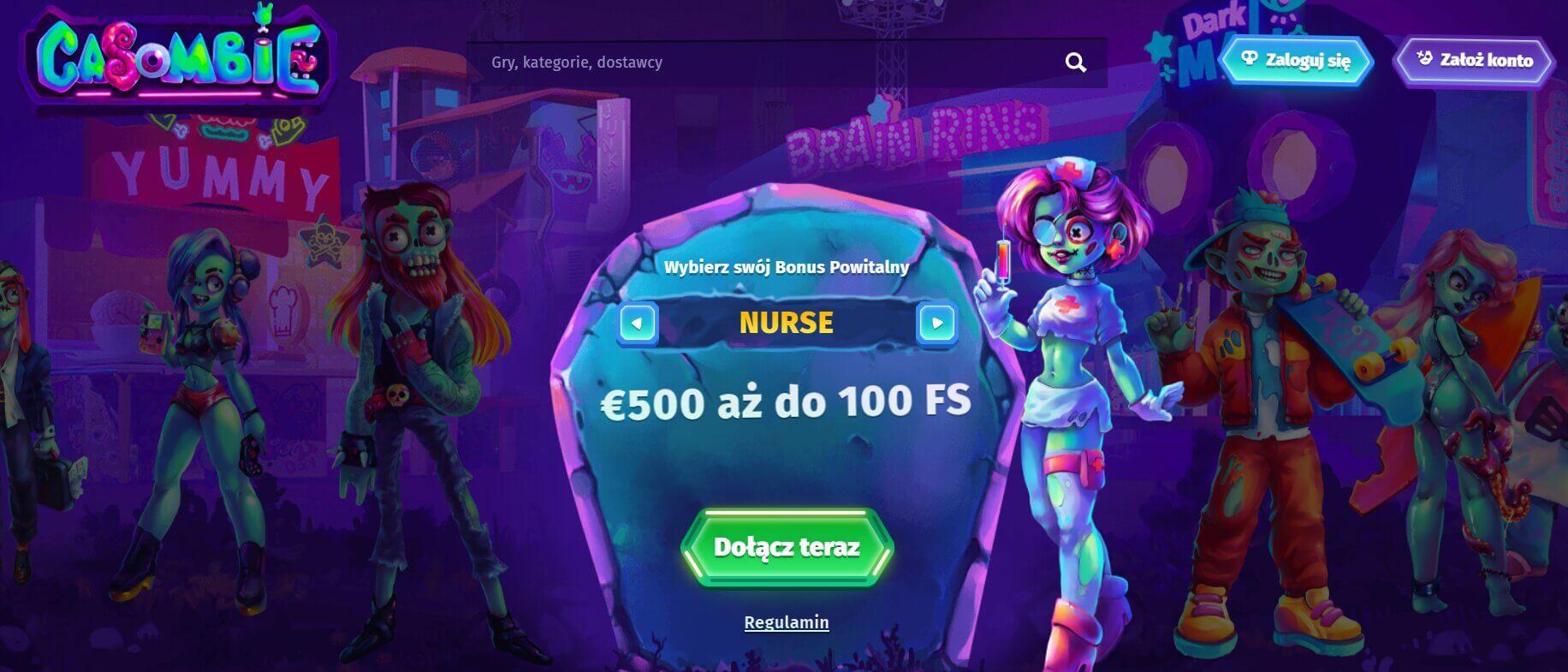 bonus powitalny w casombie casino screenshot