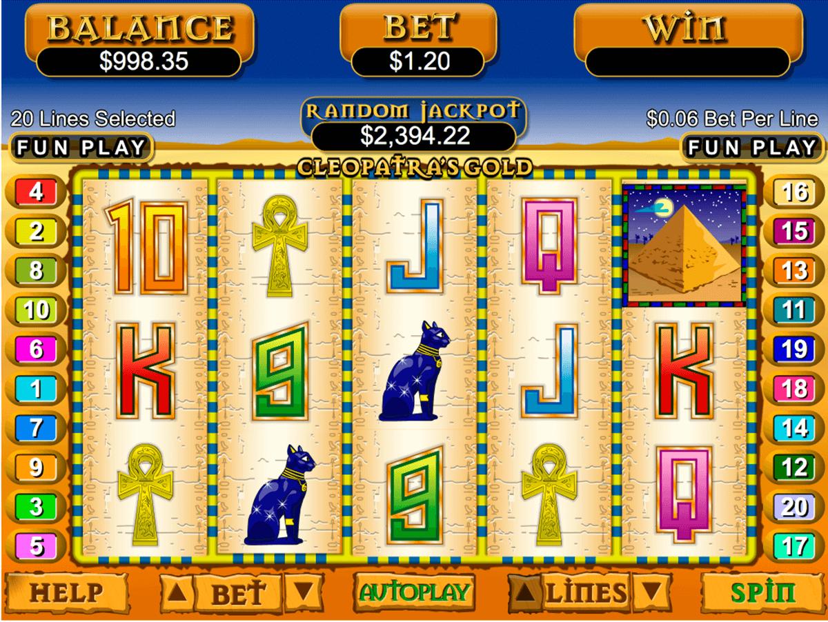 cleopatras gold rtg automat online