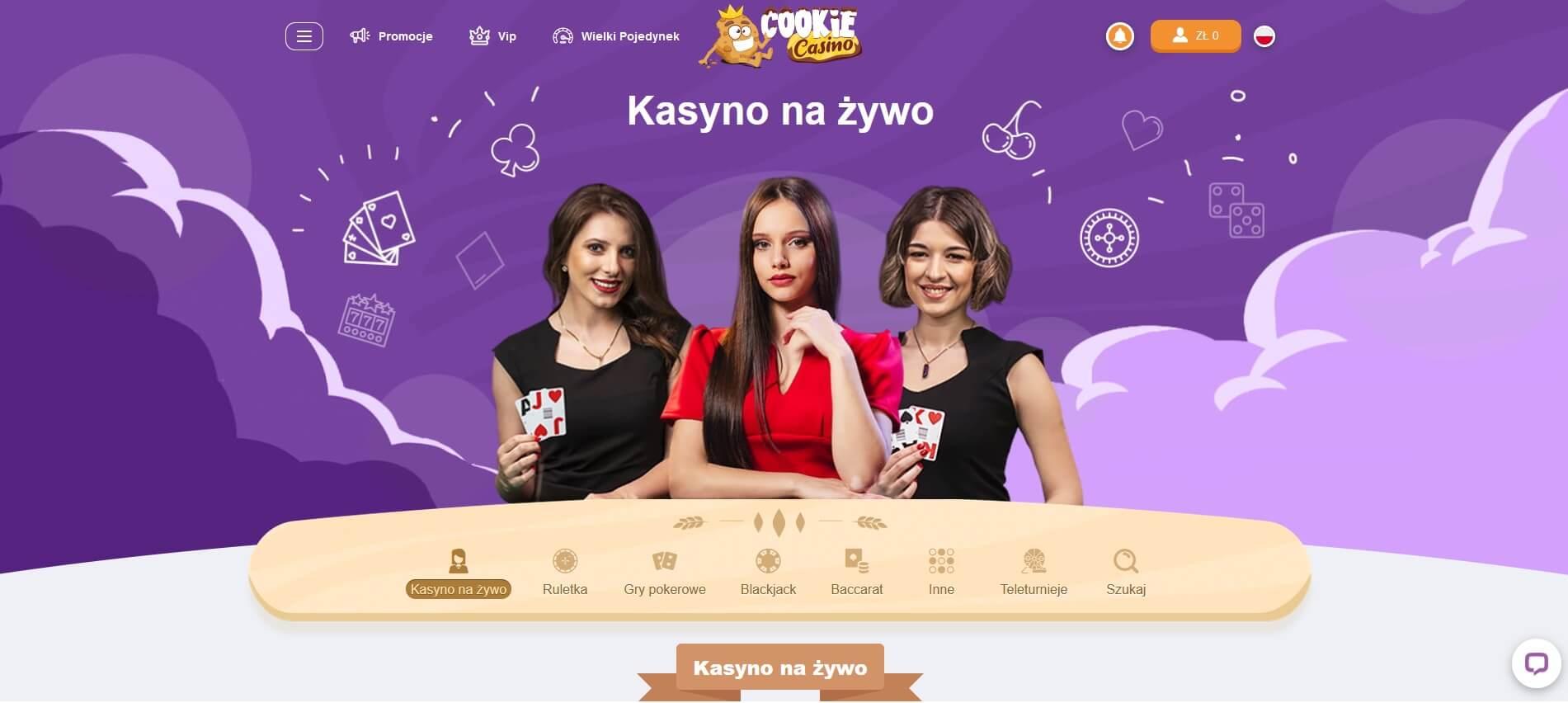 cookie casino live screenshot
