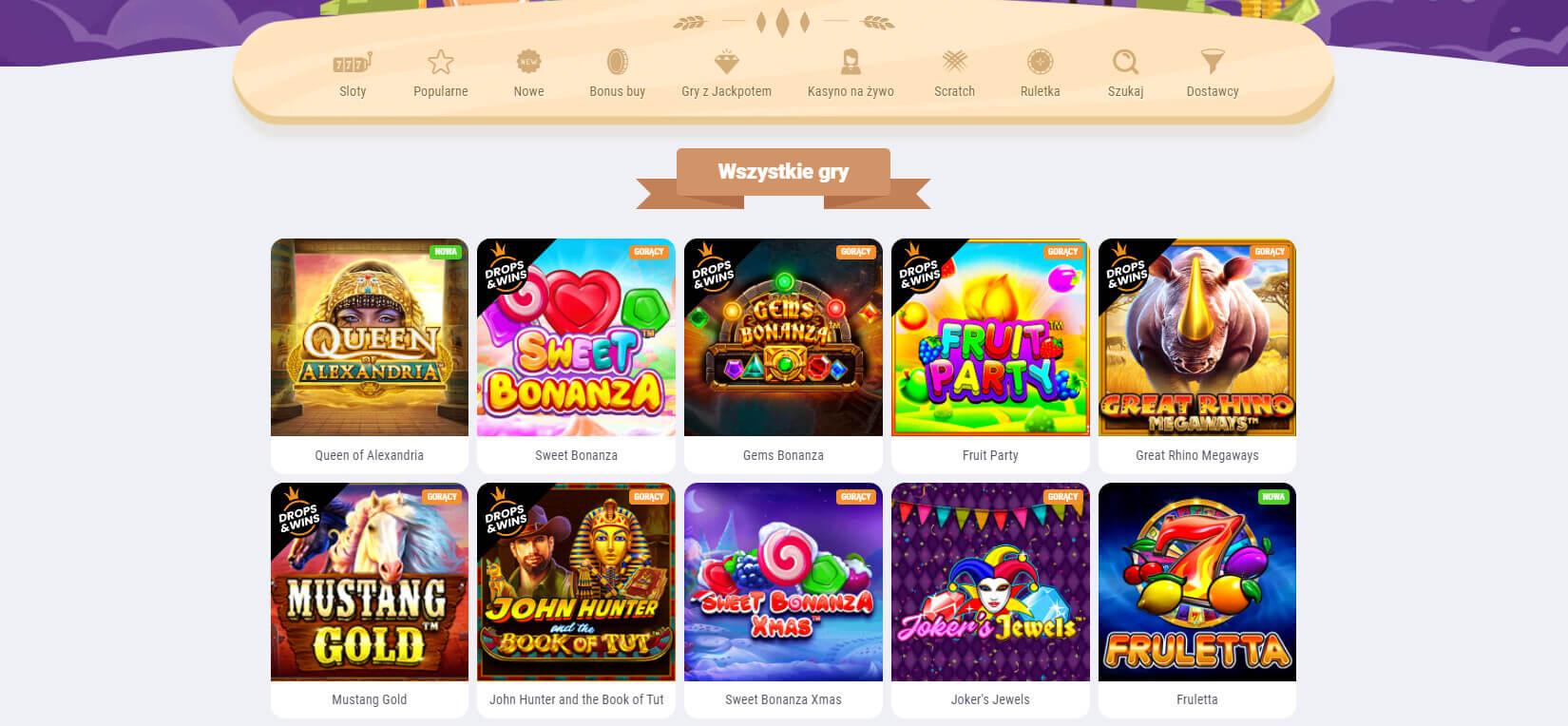cookie casino gry hazardowe screenshot