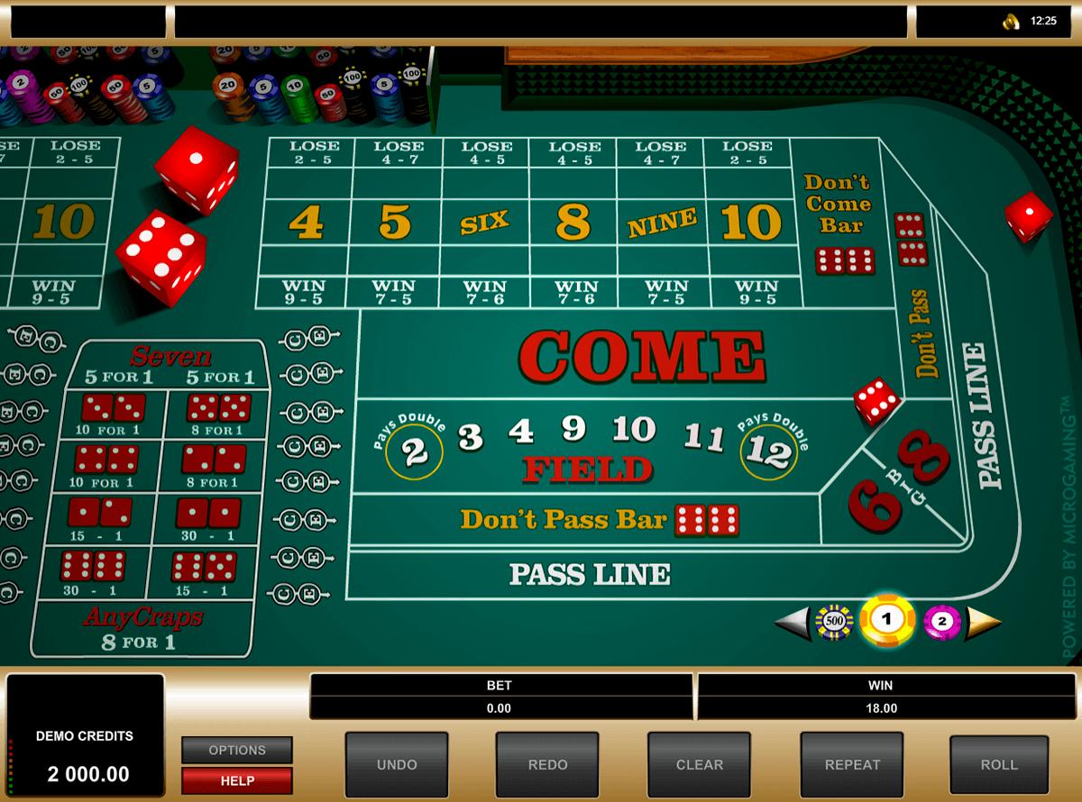 craps microgaming gra w kosci online