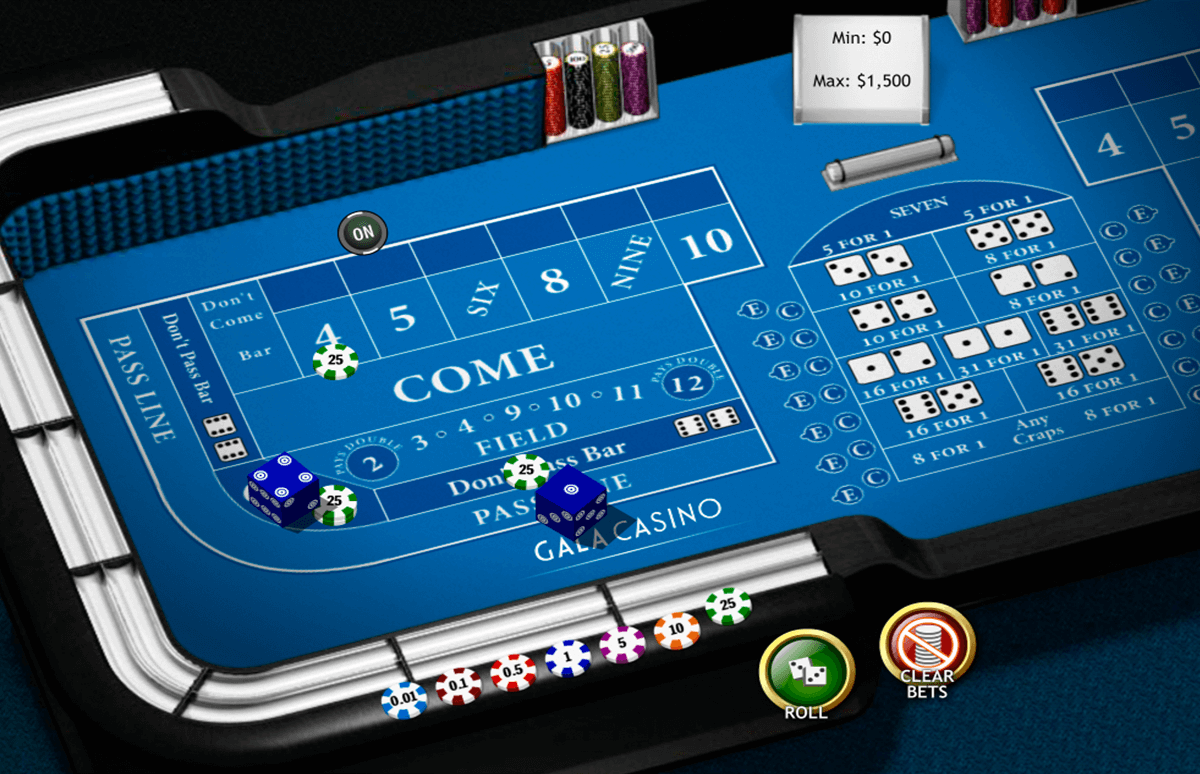 craps playtech gra w kosci online
