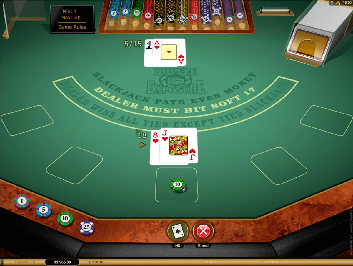 double exposure blackjack gold microgaming blackjack online