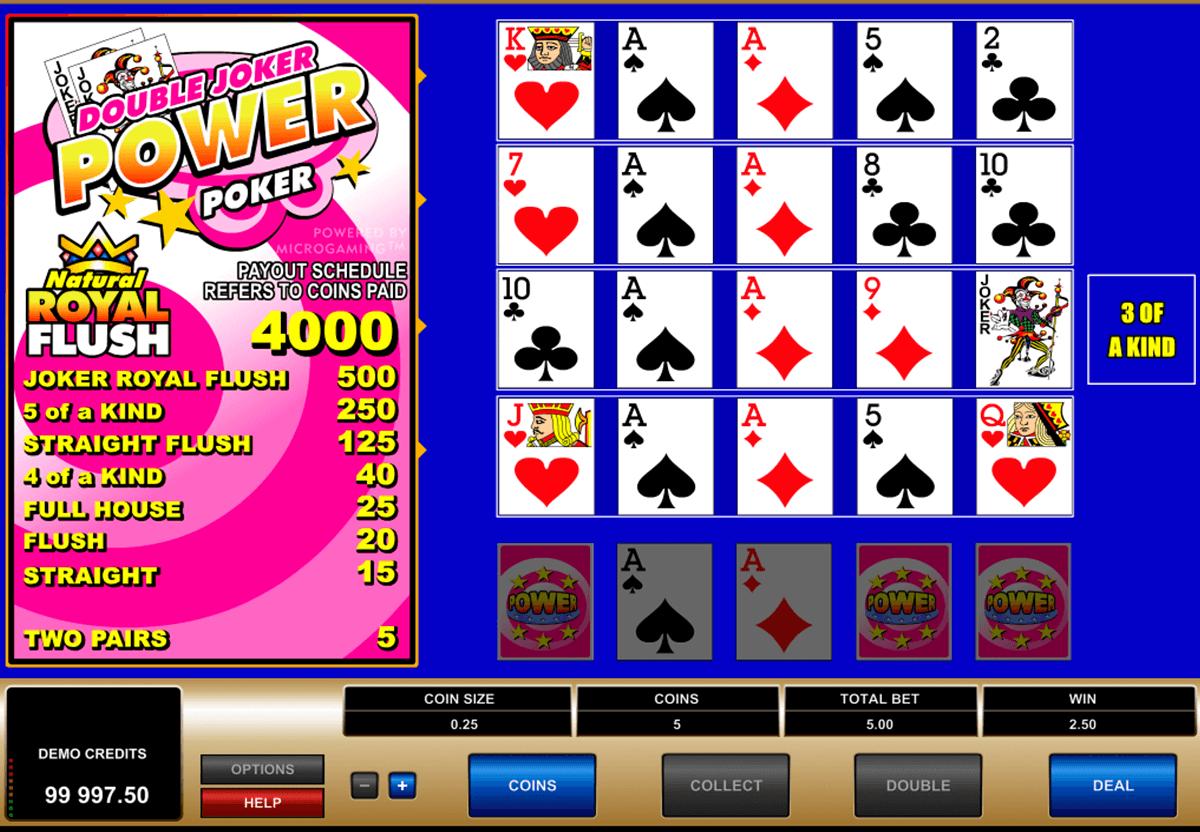 double joker 4 play power poker microgaming video poker