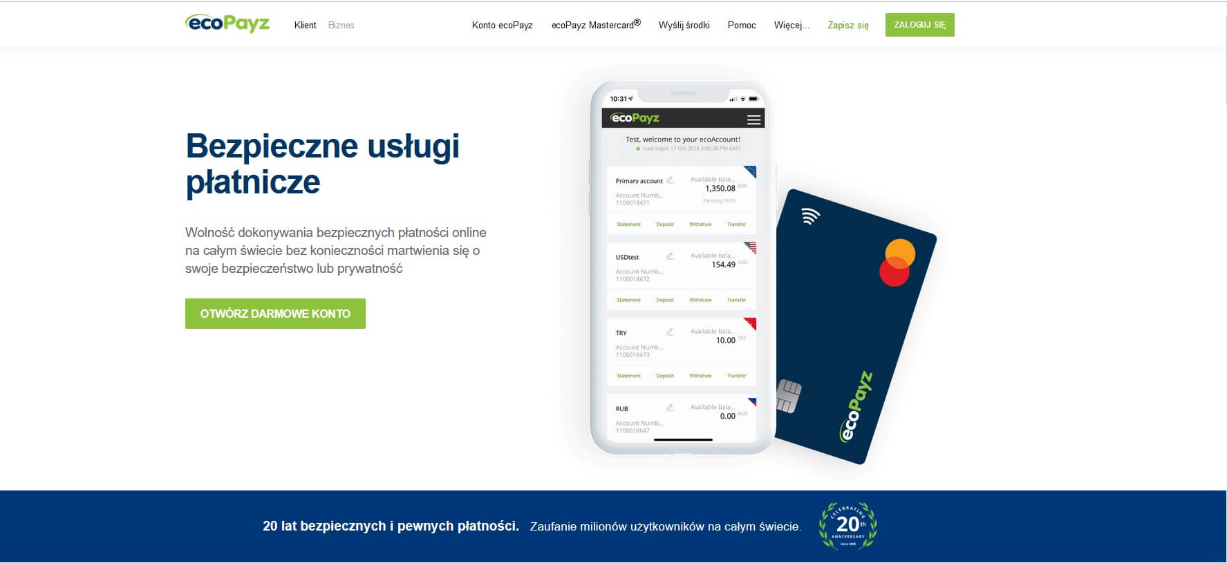 ecoPayz rejestracja