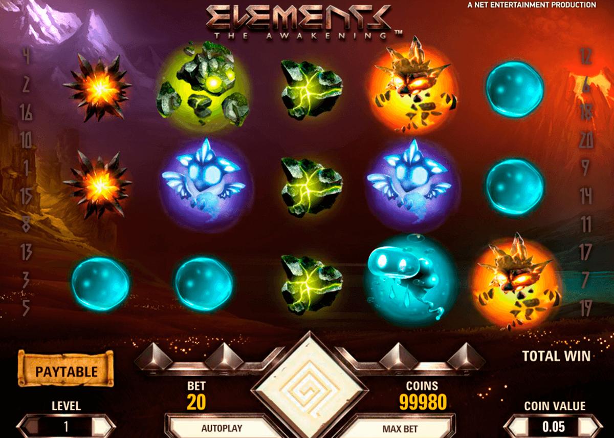 elements netent automat online