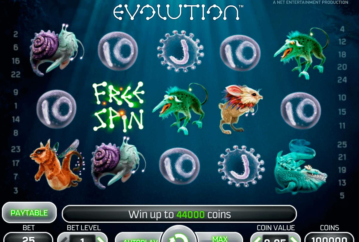 evolution netent automat online