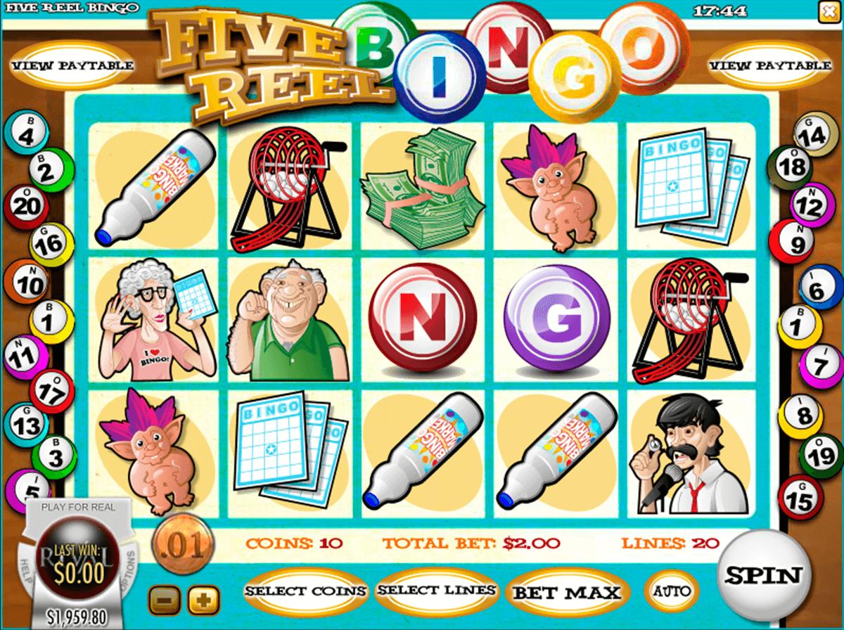 five reel bingo rival automat online