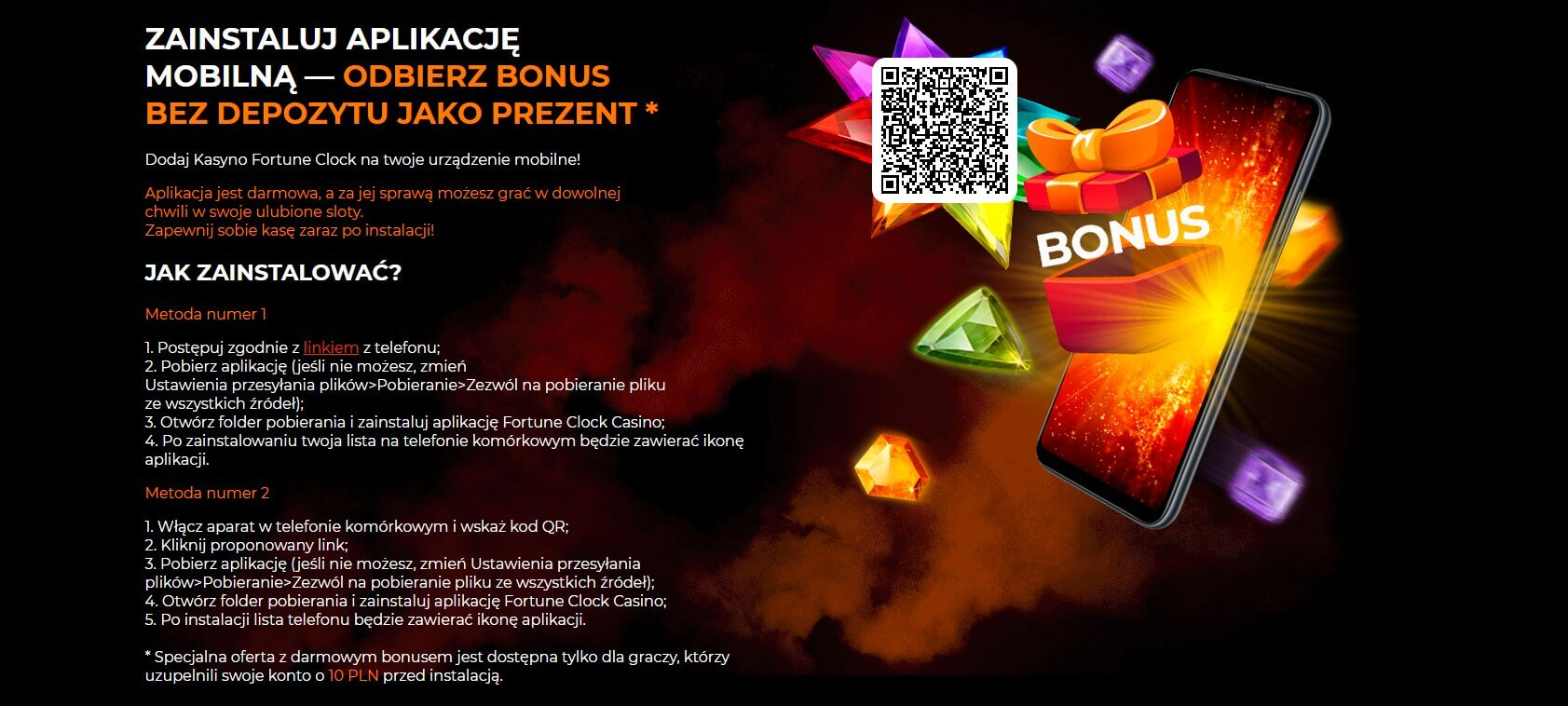 fortune clock casino mobilne i aplikacja screenshot