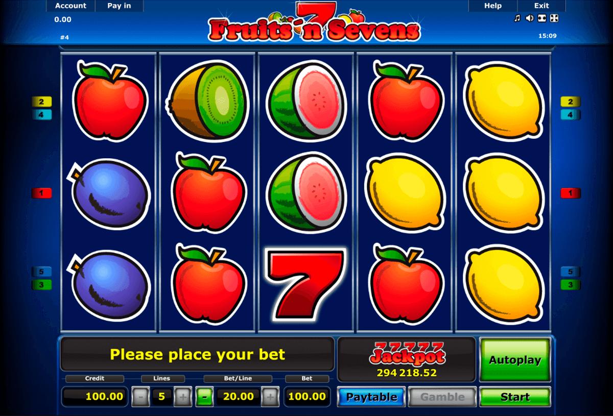 fruitsn sevens novomatic automat online