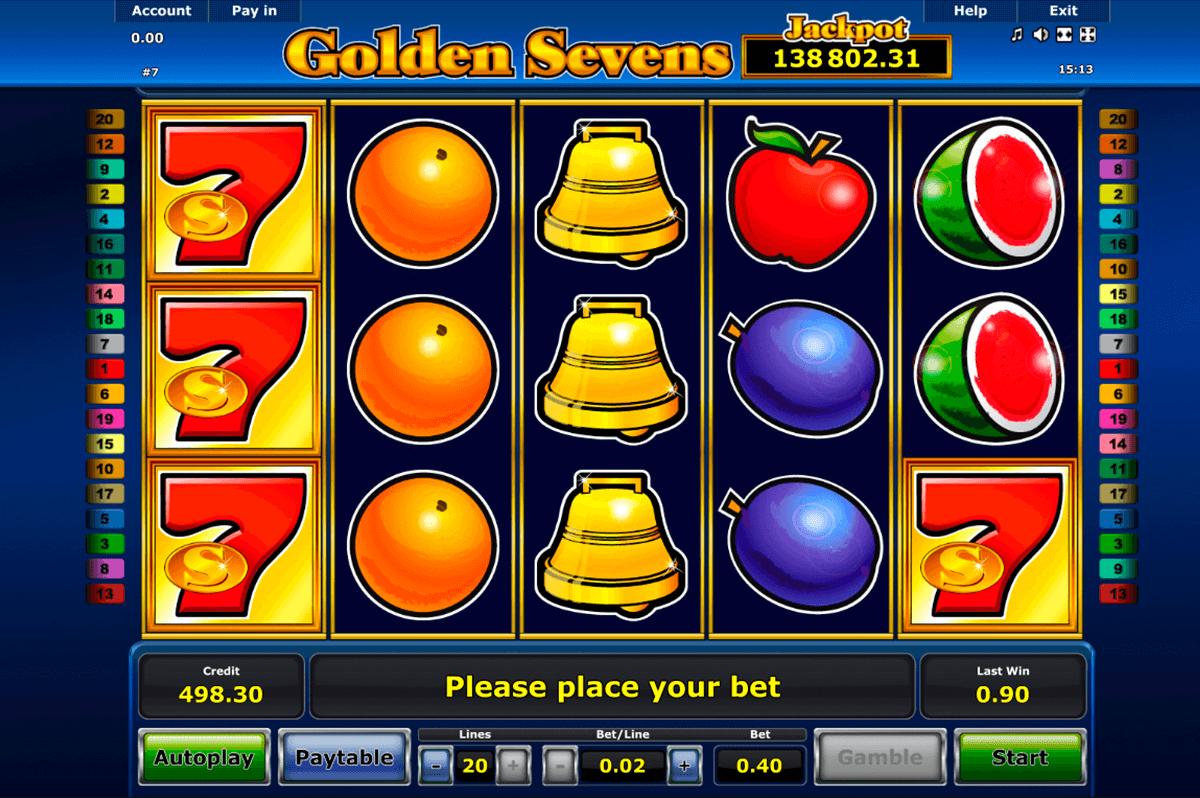 golden sevens novomatic automat online