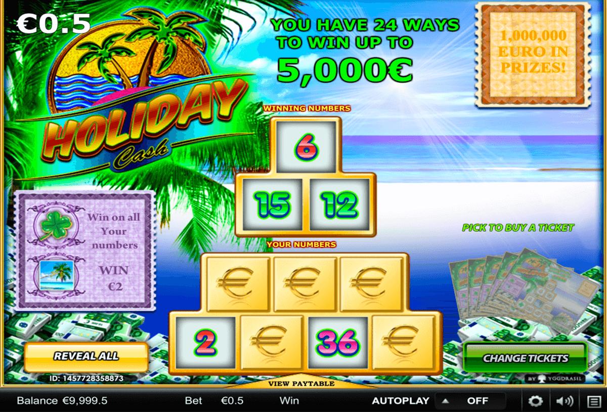 holiday cash yggdrasil zdrapka online