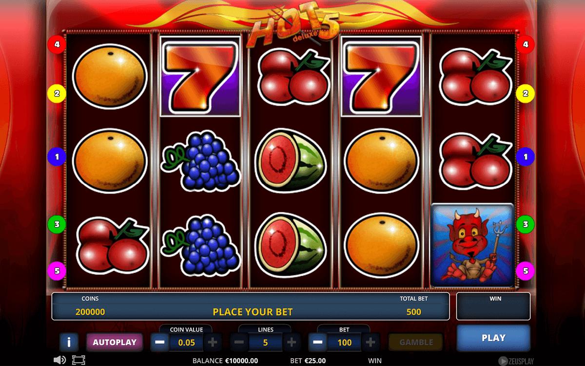hot 5 deluxe zeus play automat online