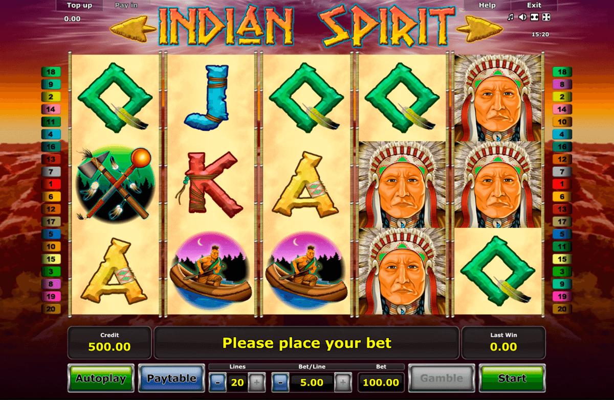 indian spirit novomatic automat online