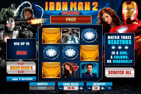 iron man  scratch playtech zdrapka online