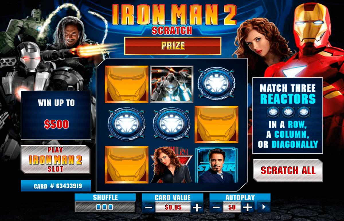 iron man 2 scratch playtech zdrapka online