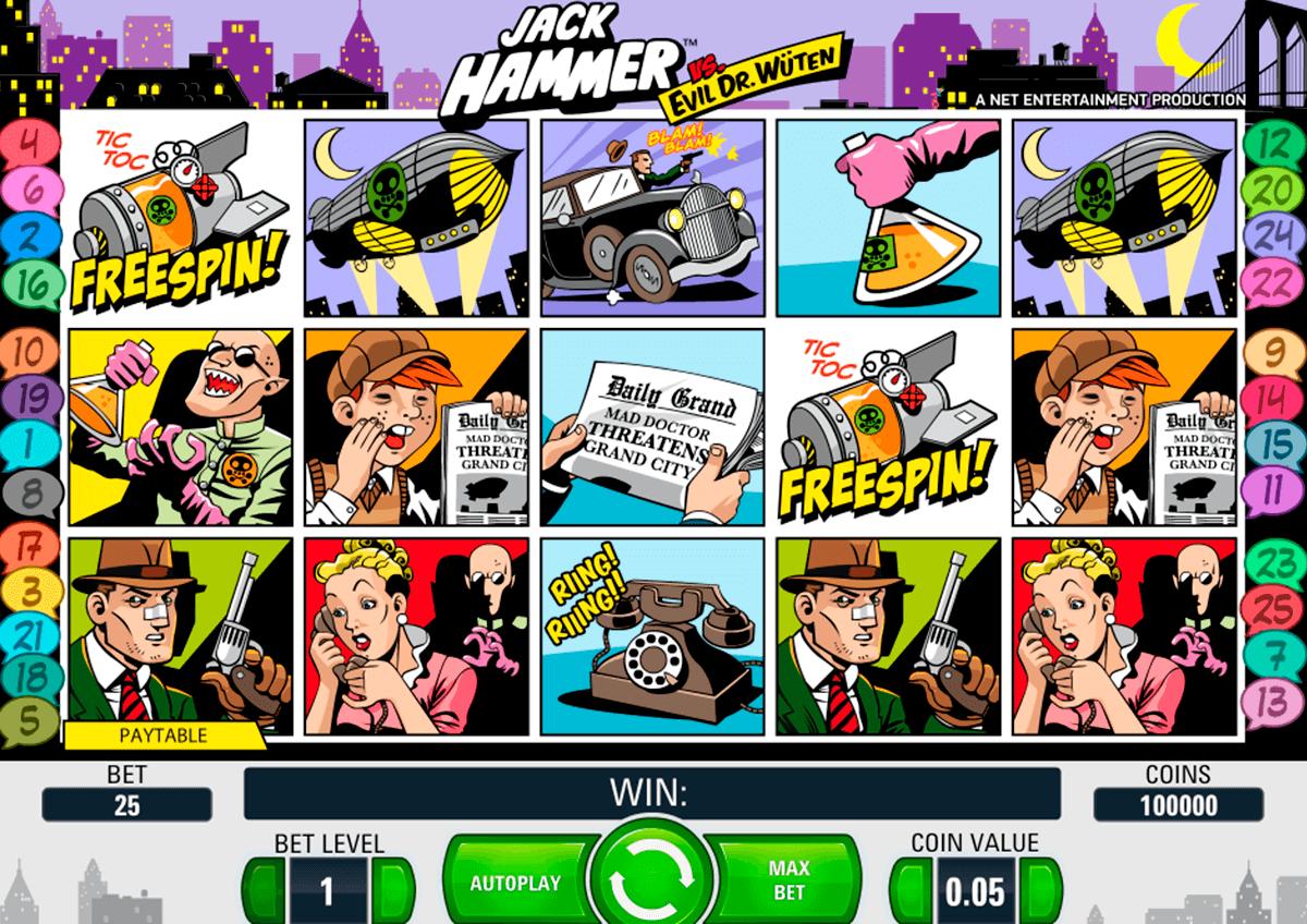 jack hammer netent automat online
