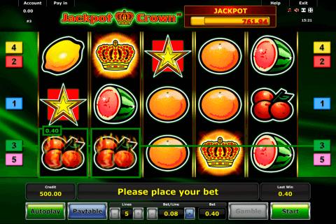 jackpot crown novomatic automat online