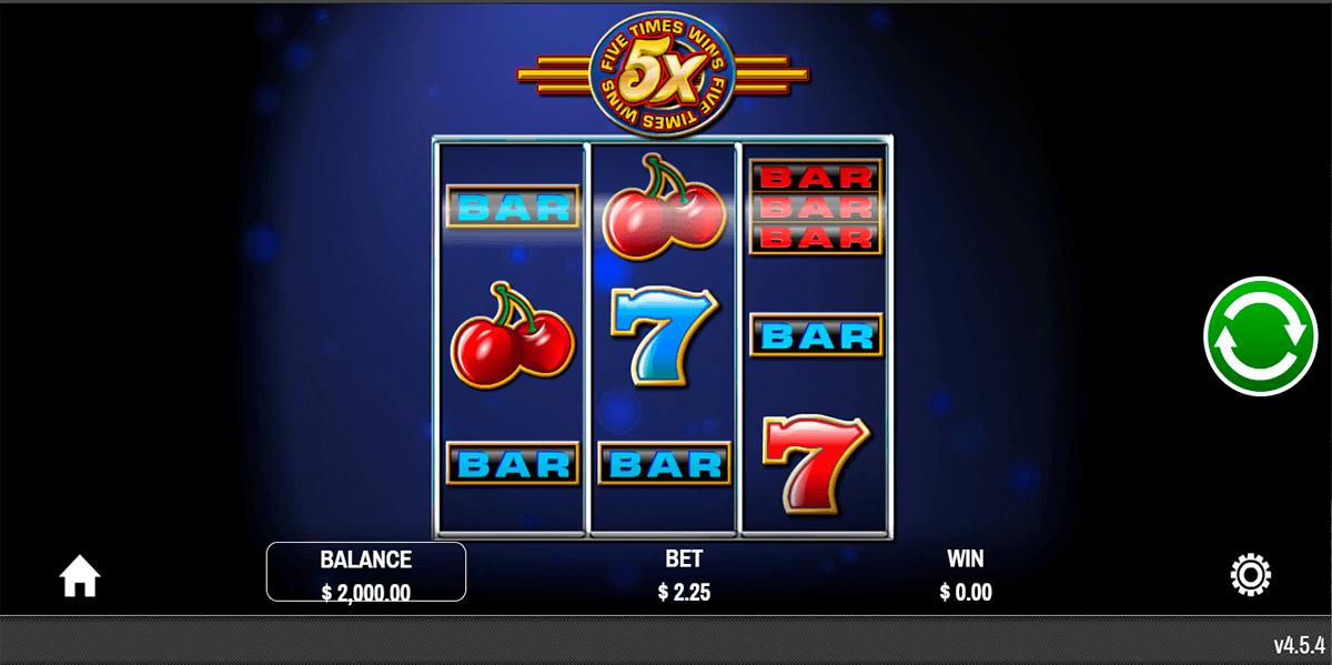 jackpot five times wins rival automat online