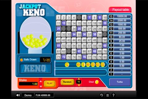 jackpot keno gaming