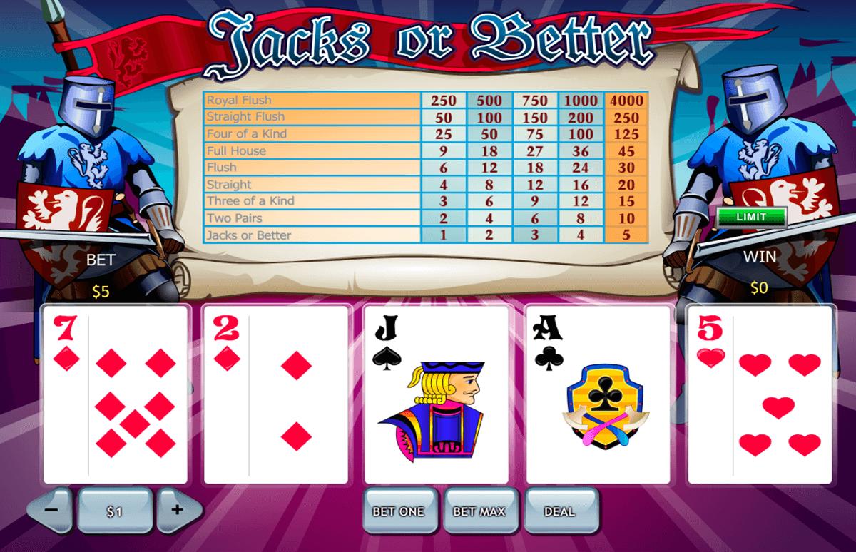 jacks or better playtech video poker