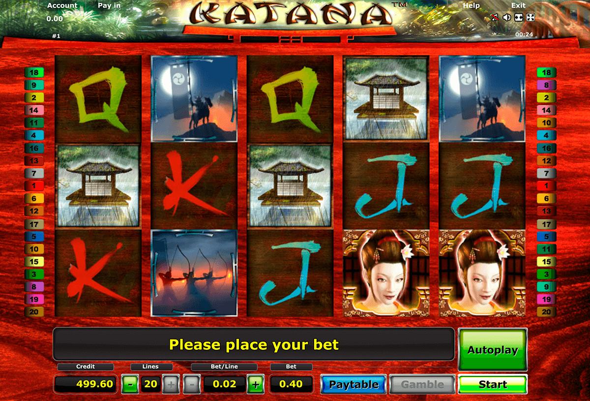katana novomatic automat online