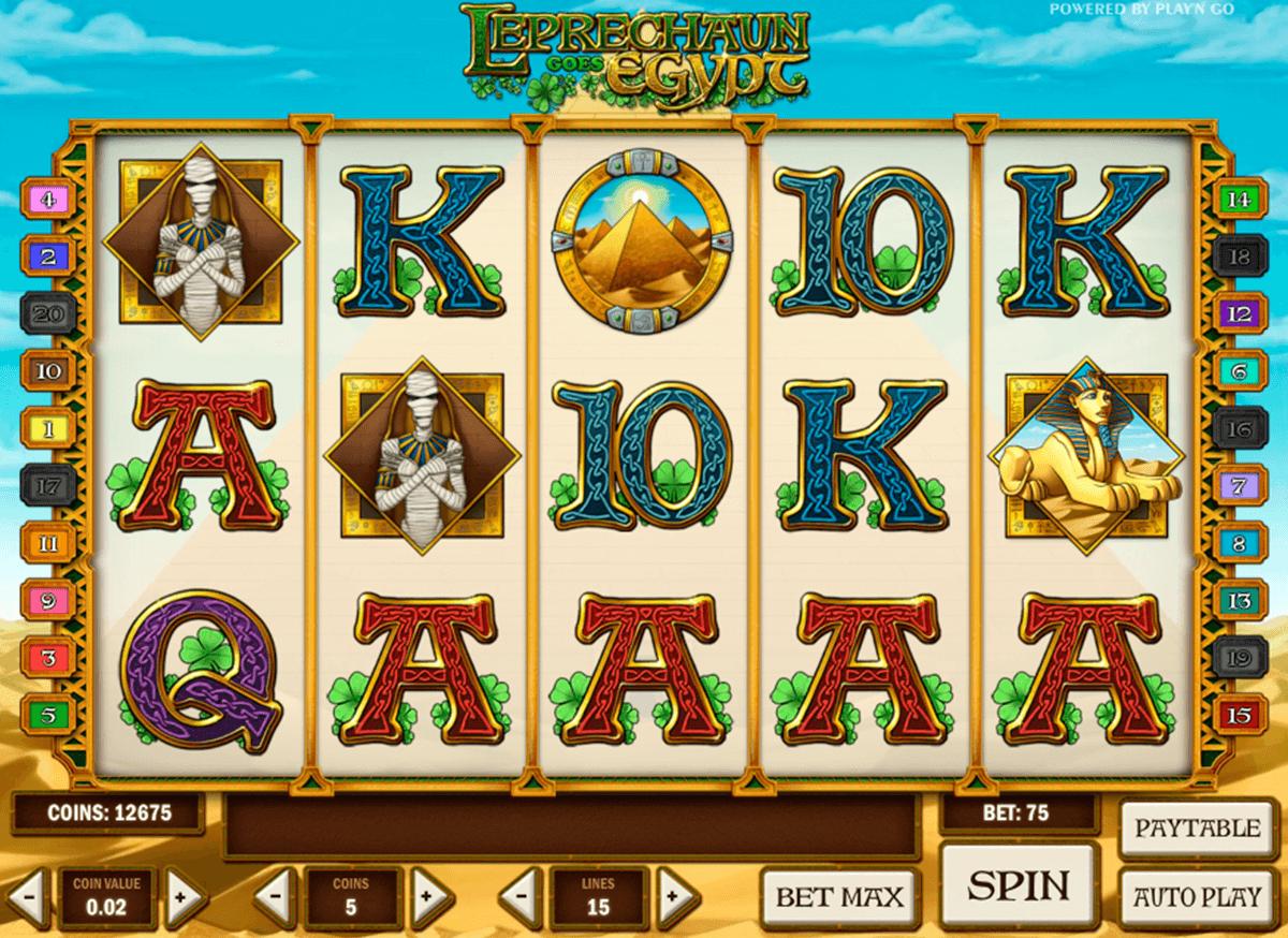 leprechaun goes egypt playn go automat online