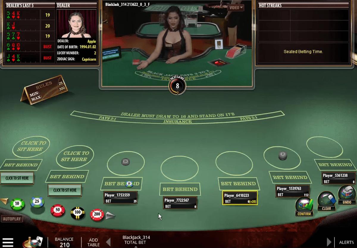 live blackjack microgaming blackjack online