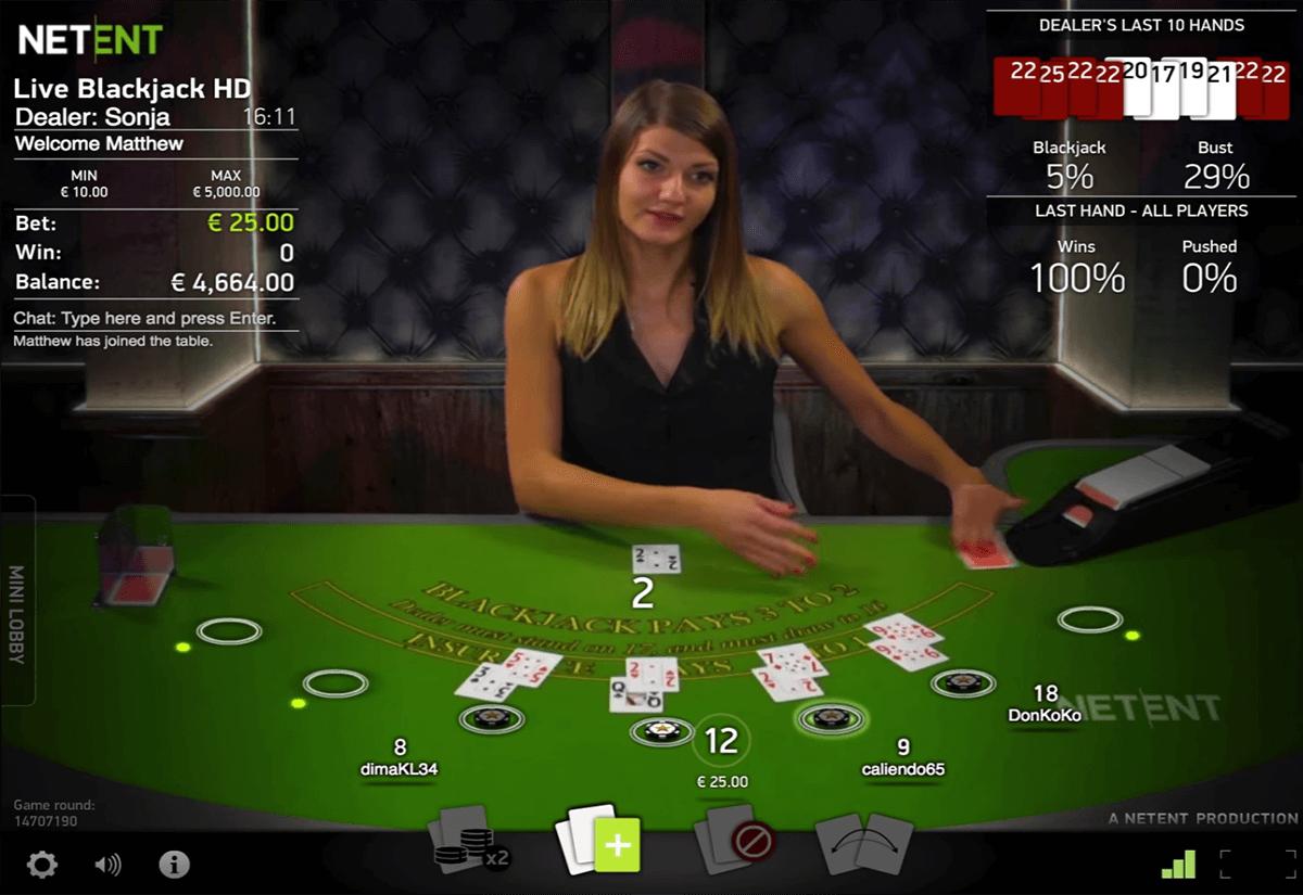 live blackjack netent blackjack online