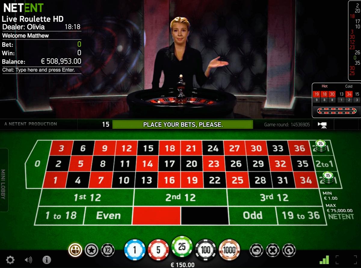 live roulette netent ruletka online