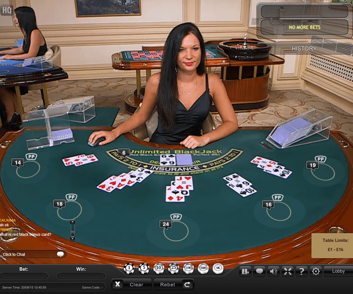 live unlimited blackjack playtech blackjack online