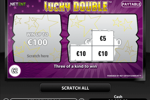 lucky double netent zdrapka online