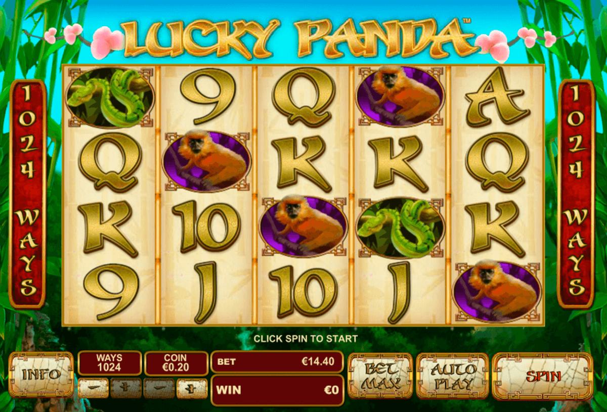 lucky panda playtech automat online