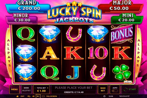 lucky spin jackpots green tube automat online