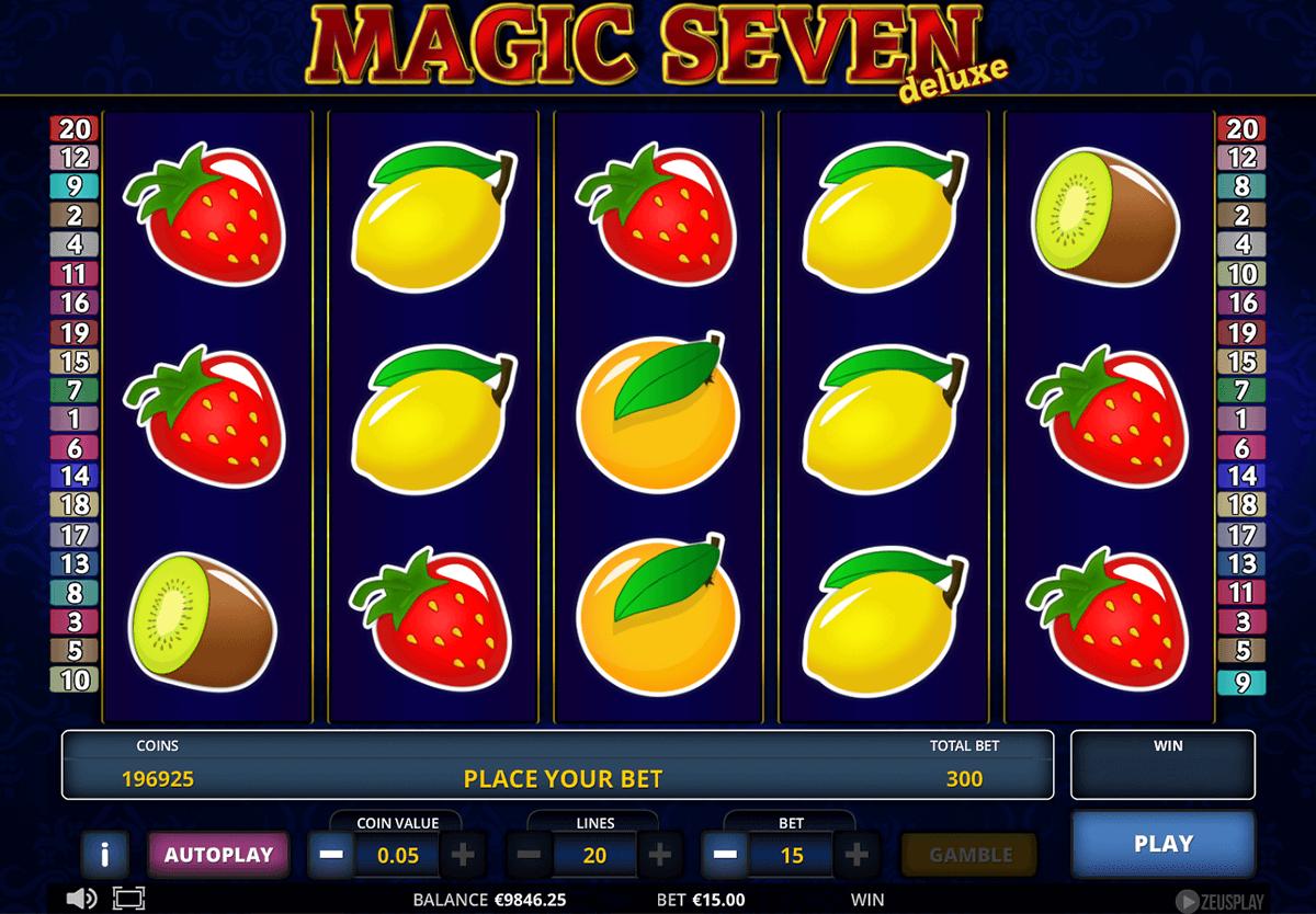 magic seven deluxe zeus play automat online