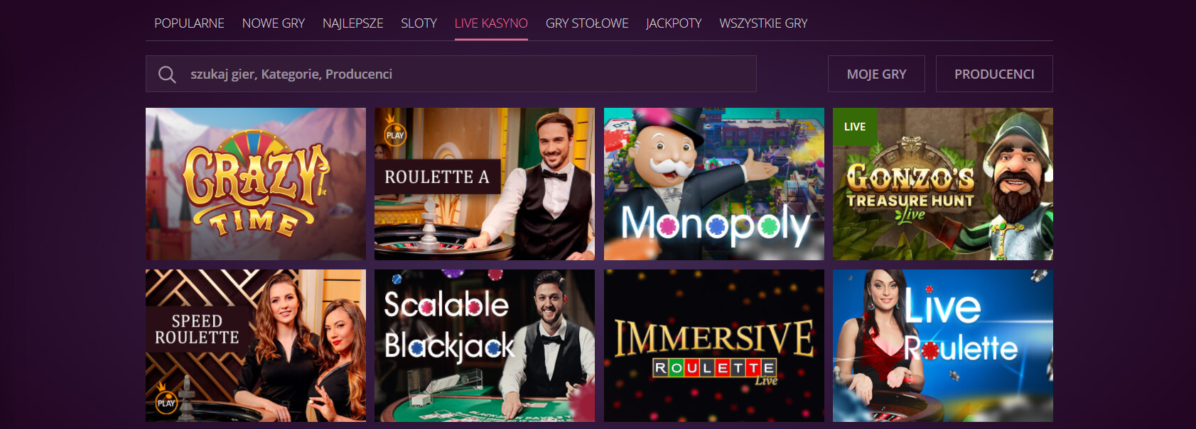 malina kasyno na żywo screenshot