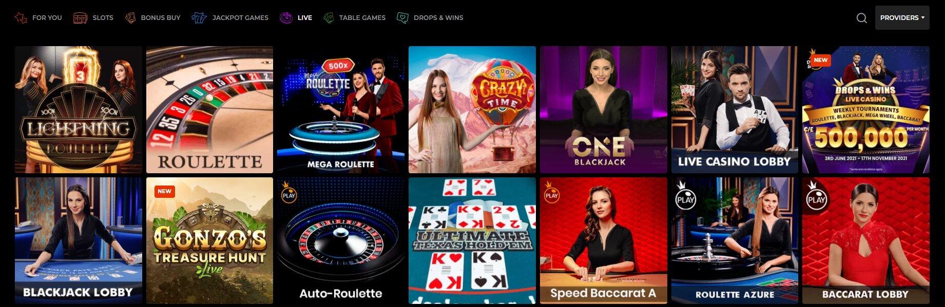 n1 casino na żywo screenshot