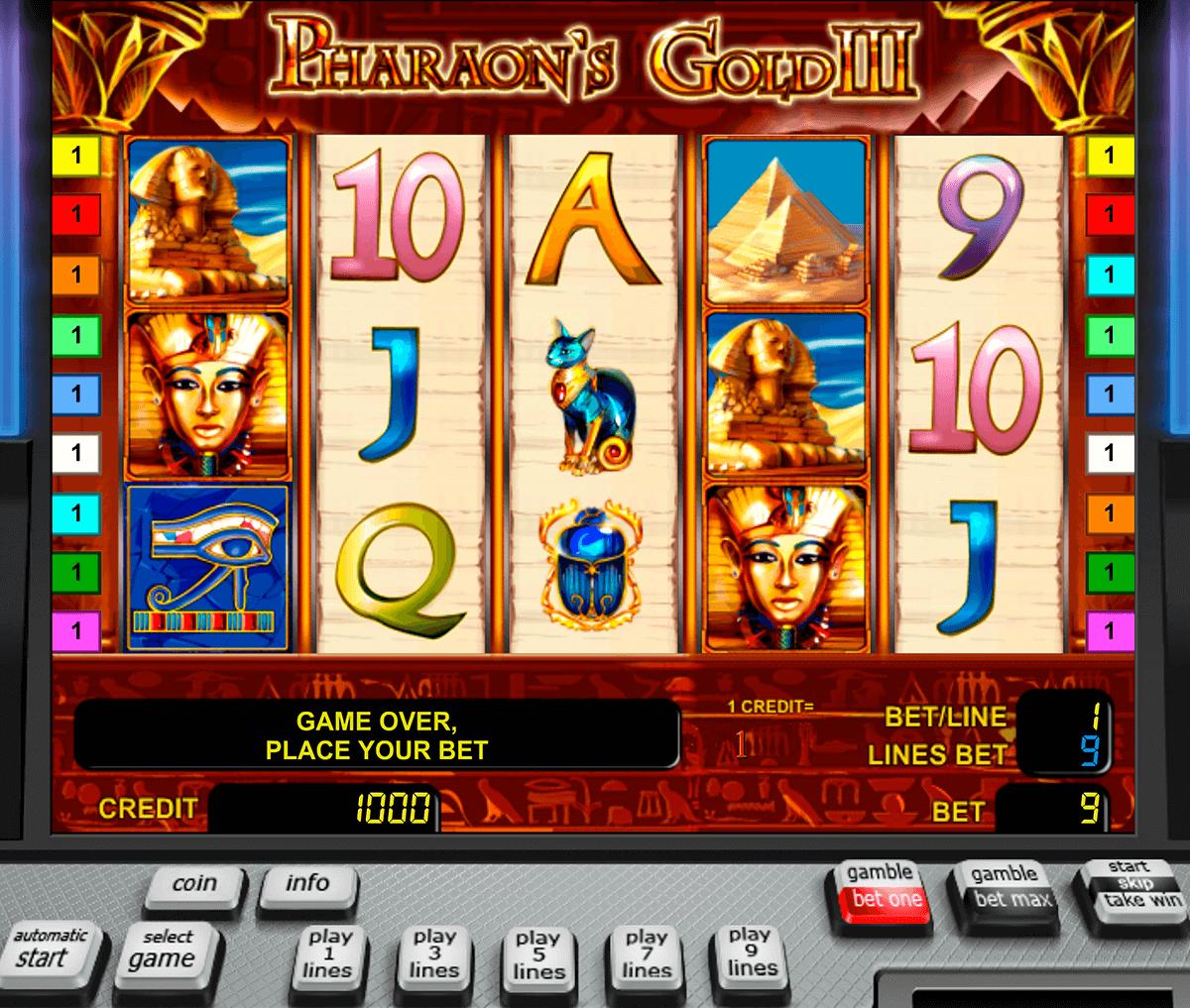 pharaohs gold iii novomatic automat online